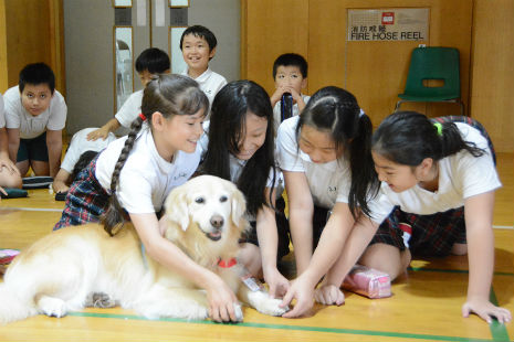 kids enjoy their professor paws experience