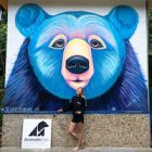 A new bear with a familiar name joins the Vietnam bear family: a beautiful mural called Rainbow