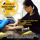 SANCTUARY STARS: How a tutor's T-shirt changed a young Chinese vet's life forever